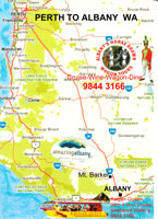 Perth to Albany Maps